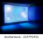 big led screen. vector...   Shutterstock .eps vector #215791921