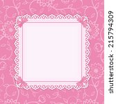 pink frame with ornamental... | Shutterstock .eps vector #215794309