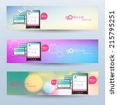 vector website headers  smart... | Shutterstock .eps vector #215795251