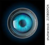 eye inside the camera lens | Shutterstock .eps vector #215800924