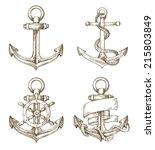 vector hand drawn anchor icon...
