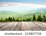 sunny day with landscape and... | Shutterstock . vector #215807734