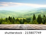 Wooden Terrace And Mountains O...