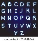 neon alphabet | Shutterstock . vector #215818669
