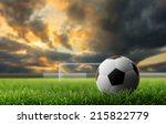 soccer ball on green grass ... | Shutterstock . vector #215822779