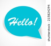 speech bubbles vector. modern... | Shutterstock .eps vector #215824294