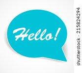 speech bubbles vector. modern... | Shutterstock .eps vector #215824294