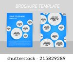 flyer template back and front... | Shutterstock .eps vector #215829289