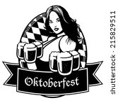 black and white oktoberfest icon | Shutterstock . vector #215829511