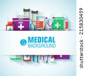 medical flat background concept.... | Shutterstock .eps vector #215830459