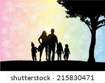 family silhouettes | Shutterstock .eps vector #215830471
