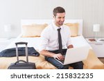 staying in touch with office.... | Shutterstock . vector #215832235