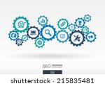 seo mechanism concept. abstract ... | Shutterstock .eps vector #215835481