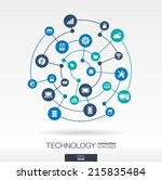 technology connection concept.... | Shutterstock .eps vector #215835484