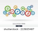 education mechanism concept.... | Shutterstock .eps vector #215835487