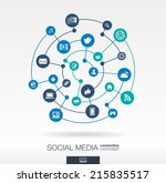 social media connection concept.... | Shutterstock .eps vector #215835517
