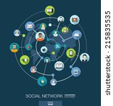 social network connection... | Shutterstock .eps vector #215835535