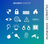 security icon set | Shutterstock .eps vector #215843761