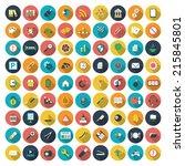 modern flat icons vector... | Shutterstock .eps vector #215845801