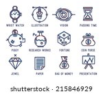 set of business icons.clock ... | Shutterstock .eps vector #215846929