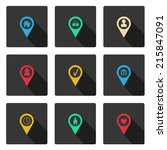set with flat icons for your... | Shutterstock .eps vector #215847091