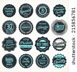 premium quality retro labels | Shutterstock .eps vector #215856781