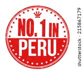 number one in peru grunge... | Shutterstock .eps vector #215867179
