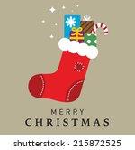 christmas stocking   Shutterstock .eps vector #215872525