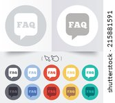 faq information sign icon. help ... | Shutterstock . vector #215881591