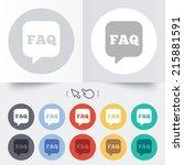 faq information sign icon. help ... | Shutterstock . vector #215881591