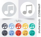 music note sign icon. musical...   Shutterstock . vector #215884669