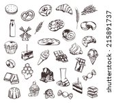 confectionery  sketches of... | Shutterstock .eps vector #215891737
