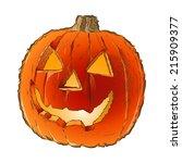 scary jack o lantern halloween... | Shutterstock .eps vector #215909377