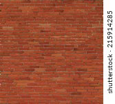 brick wall  red relief texture... | Shutterstock .eps vector #215914285