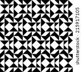 black and white geometric...   Shutterstock .eps vector #215917105