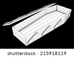 coffin. isolated on black...   Shutterstock . vector #215918119