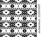 vector seamless black and white ... | Shutterstock .eps vector #215919397