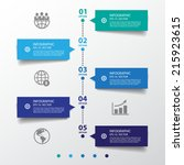 business concept timeline.... | Shutterstock .eps vector #215923615