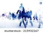 business people walking on a... | Shutterstock . vector #215932267
