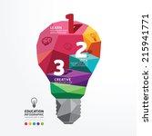 light bulb vector infographic... | Shutterstock .eps vector #215941771