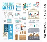 ecommerce business market...   Shutterstock .eps vector #215942305