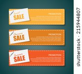 sale banners | Shutterstock .eps vector #215944807
