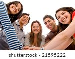 happy group of friends smiling... | Shutterstock . vector #21595222