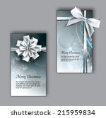 silver christmas greeting cards ... | Shutterstock .eps vector #215959834