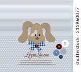 greeting card with sweet dog. | Shutterstock .eps vector #215960077