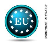 european union icon. internet... | Shutterstock . vector #215966419