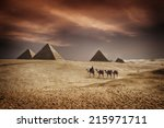 image of the great pyramids of... | Shutterstock . vector #215971711