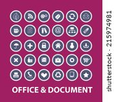 office  document icons  signs ... | Shutterstock .eps vector #215974981