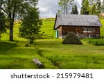 Wooden Shed In The Countryside