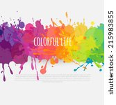 vector colorful banner made of bright stains | Shutterstock vector #215983855